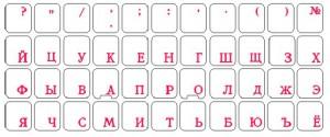 Стикер для клавиатуры