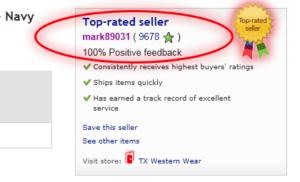 Рейтинг продавца на eBay
