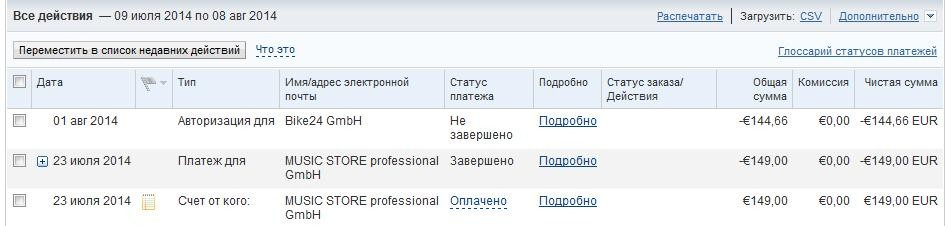 Статус перевода